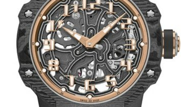 RICHARD MILLE ROUND AUTOMATIC EXTRA THIN CARBON TPT RM33-02 RG CA