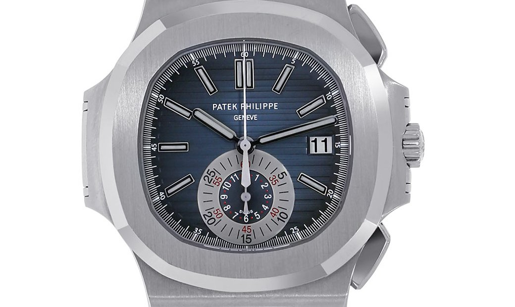 Patek Philippe Nautilus Stainless Steel Blue Index Dial Watch 5980/1A-001