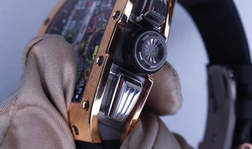 Richard Mille RM 11-02 Rose Gold GMT Flyback Chronograph Dual Time Zone