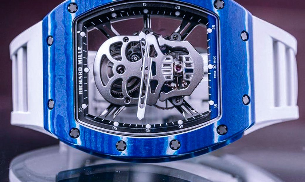 Richard Mille [2018 LIKE NEW] RM 52-01 Skull Blue Quartz TPT Tourbillon