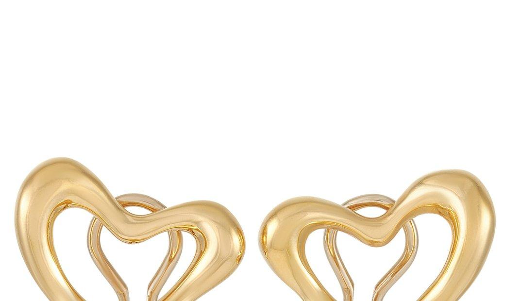 Tiffany & Co. Tiffany & Co. Elsa Peretti 18K Yellow Gold Heart Clip On Earrings