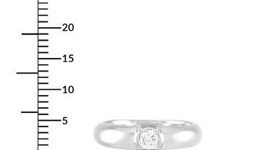 Tiffany & Co. Tiffany & Co. Etoile Platinum 0.19 ct Diamond Solitaire Ring