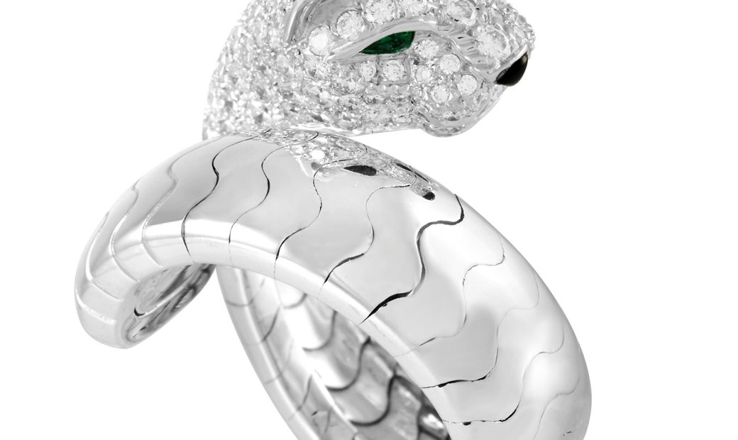 Cartier Cartier Panthere 18K White Gold Diamond Ring