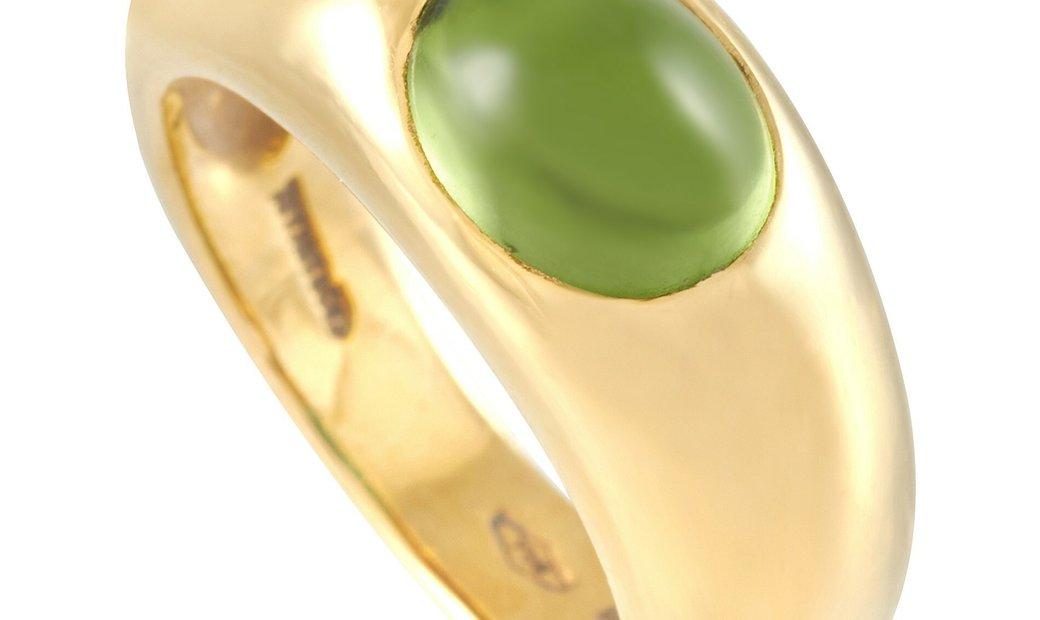 Tiffany & Co. Tiffany & Co. 18K Yellow Gold 0.37 ct Peridot Ring