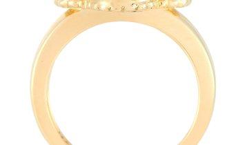 Van Cleef & Arpels Van Cleef & Arpels Vintage Alhambra 18K Yellow Gold Diamond and Mother of Pearl R