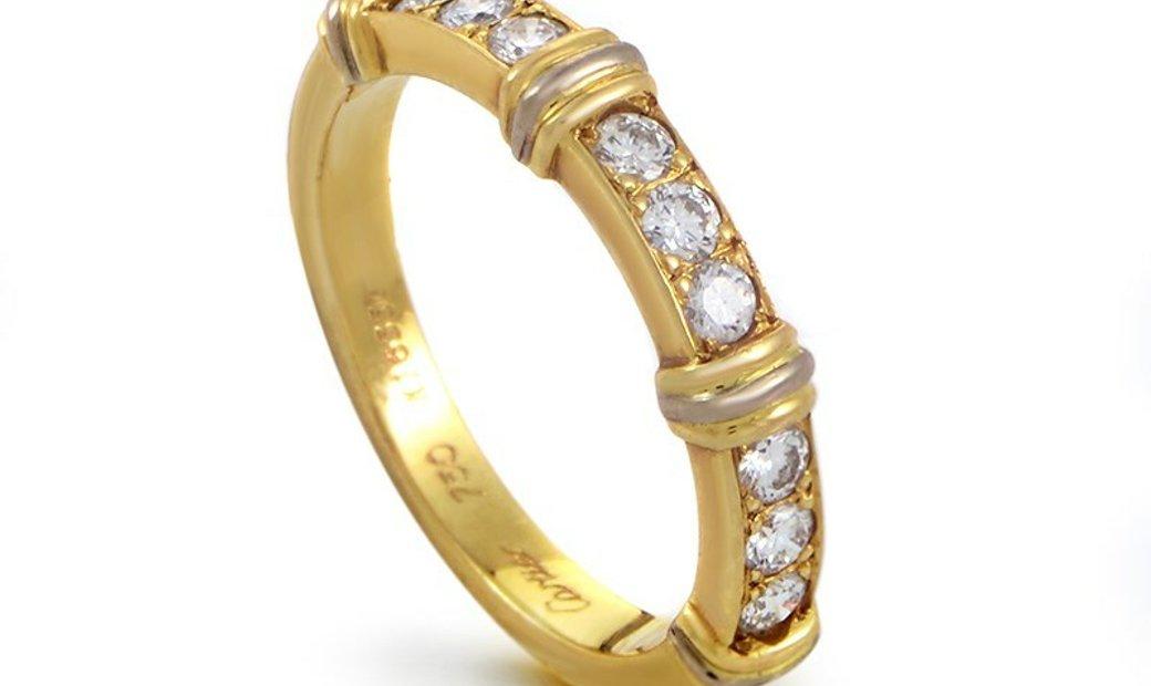 Cartier Cartier Contessa 18K Yellow Gold Diamond Band Ring