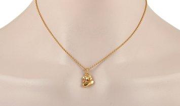 Van Cleef & Arpels Van Cleef & Arpels 18K Yellow Gold Ruby Shoe Pendant Necklace