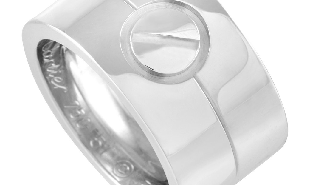 Cartier Cartier LOVE 18K White Gold Wide Band Ring