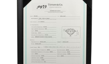 Tiffany & Co. Tiffany & Co. Platinum 1.11 ct Diamond Solitaire Ring