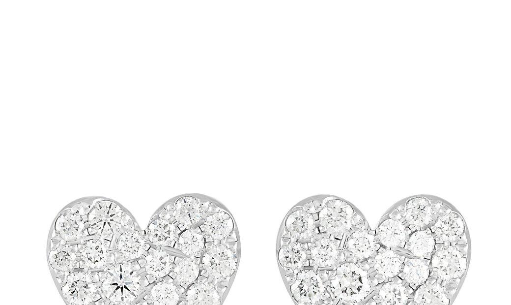Tiffany & Co. Tiffany & Co. Platinum 0.32 ct Diamond Metro Heart Earrings