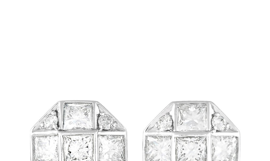 Tiffany & Co. Tiffany & Co. Platinum Princess Cut 1.15 ct Diamond Mosaic Earrings