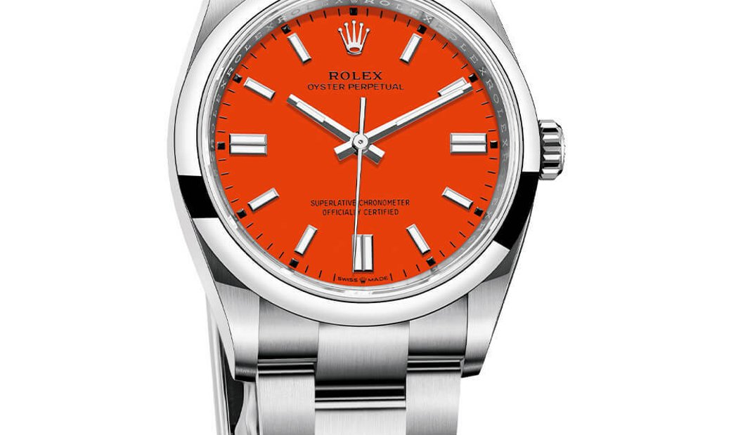 ROLEX OYSTER PERPETUAL 41 CORAL RED 124300-0007