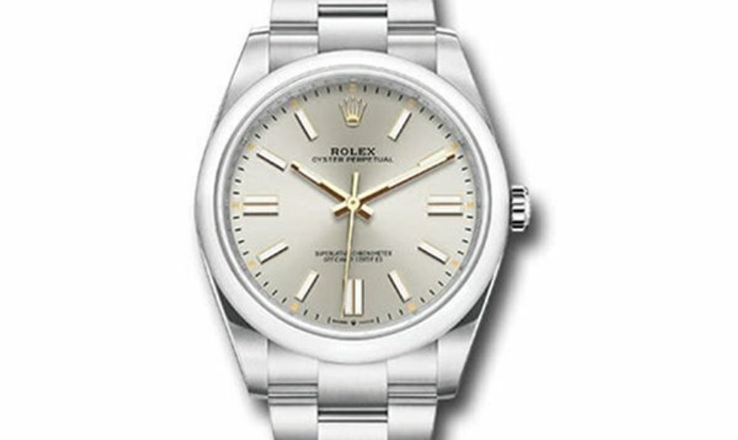 ROLEX OYSTER PERPETUAL 41 SILVER DIAL 124300 SIO
