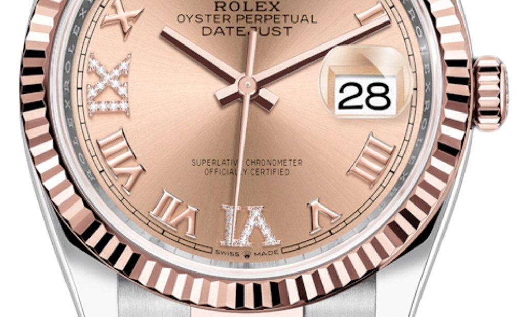 ROLEX OYSTER PERPETUAL DATEJUST 36 126231 ROSE ROMAN DIAL