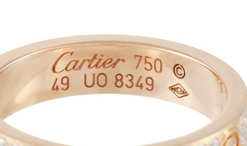 Cartier Cartier LOVE 18K Rose Gold Diamond Ring