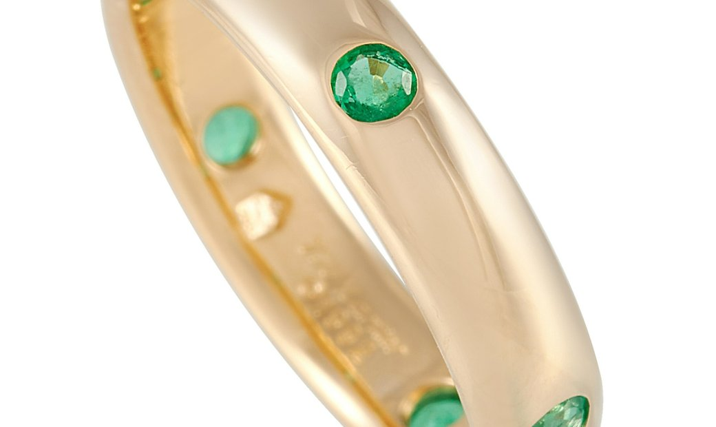 Cartier Cartier 18K Yellow Gold Emerald Band Ring