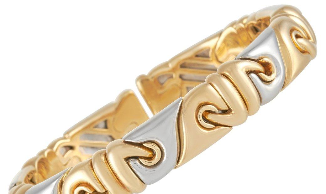 Bvlgari Bvlgari 18K Yellow Gold and Stainless Bracelet