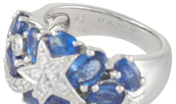 Chanel Chanel Comète 18K White Gold Diamond and Sapphire Ring
