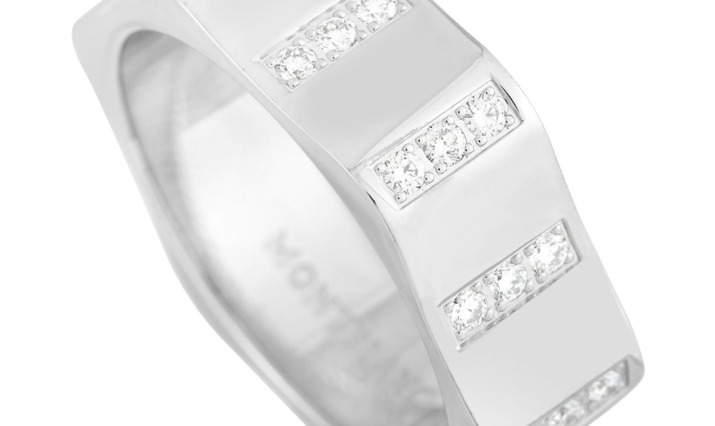 Montblanc Montblanc 18K White Gold 0.50 ct Band Ring