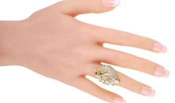 LB Exclusive LB Exclusive 18K Yellow Gold 3.03 ct Diamond Cocktail Ring