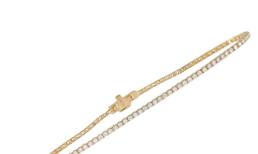LB Exclusive LB Exclusive 14K Yellow Gold 1.10 ct Diamond Tennis Bracelet