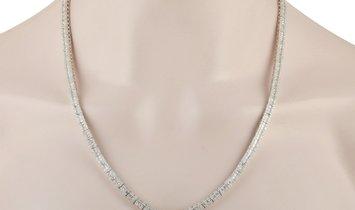 LB Exclusive LB Exclusive 14K White Gold 10.25 ct Diamond Necklace