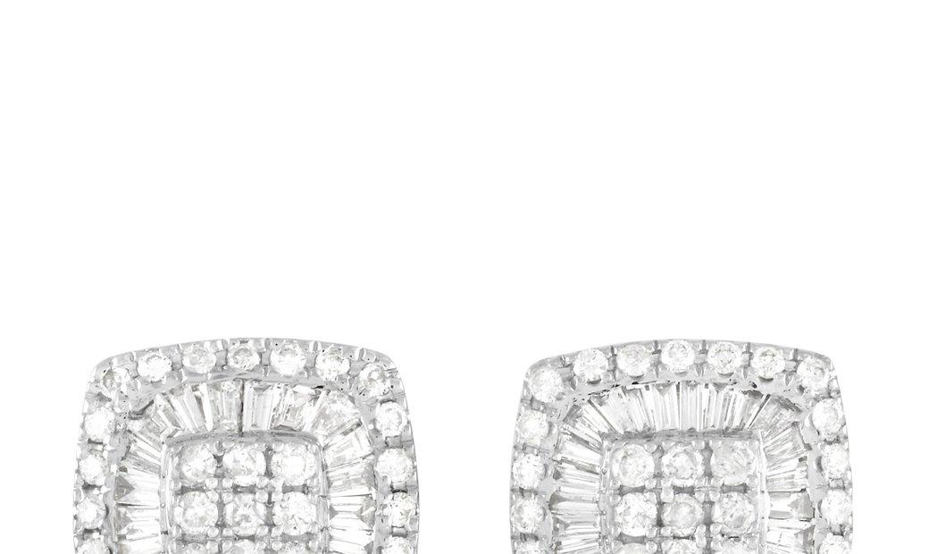 LB Exclusive LB Exclusive 14K White Gold 1.25 ct Diamond Stud Earrings
