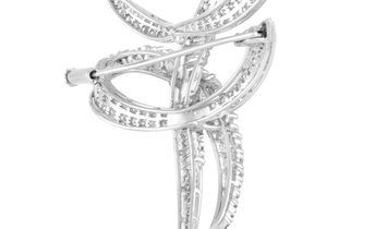 LB Exclusive LB Exclusive Platinum 5.82 ct Diamond Brooch