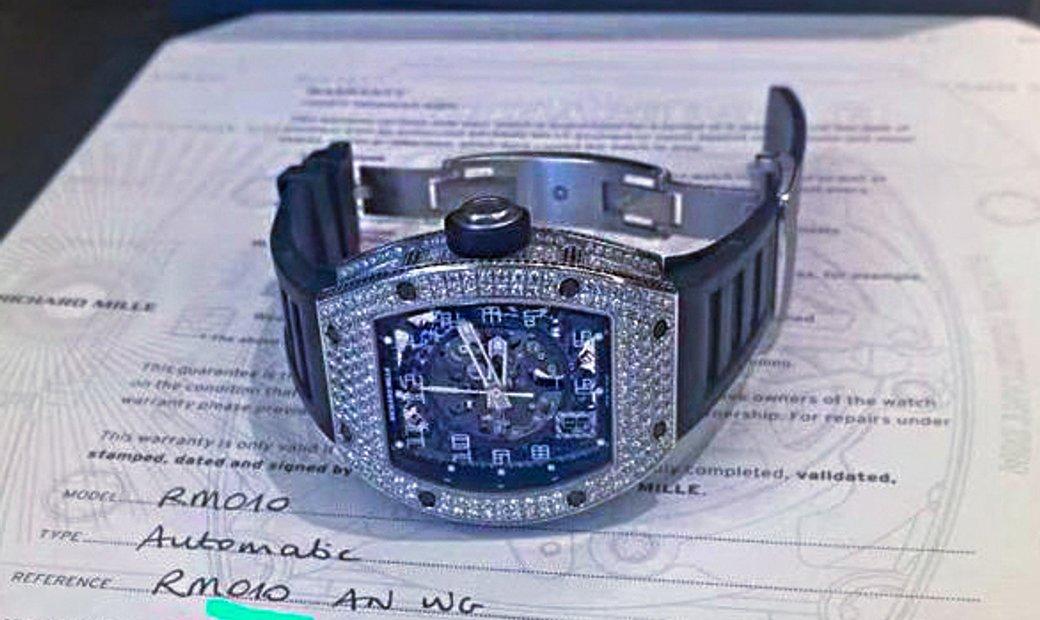 Richard Mille RM 010 White Gold Full Set Diamonds