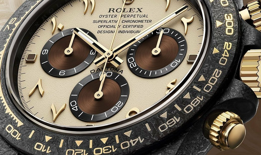 "Rolex DiW NTPT Carbon Daytona ""DESERT EAGLE ARABIC"" (Retail:EUR 47990)"