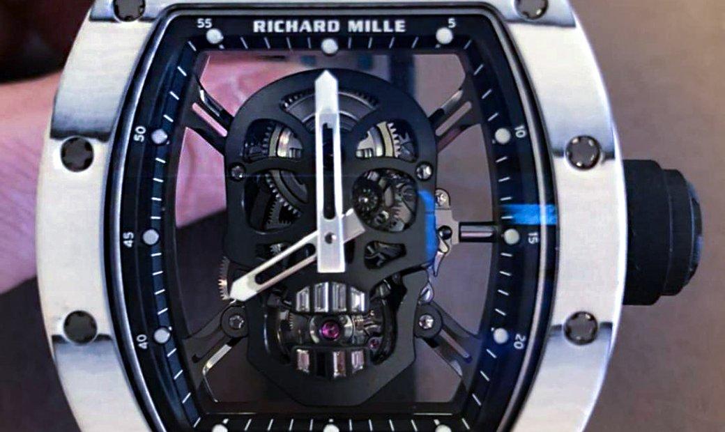 Richard Mille [2018 LIKE NEW] RM 52-01 White Skull Tourbillon