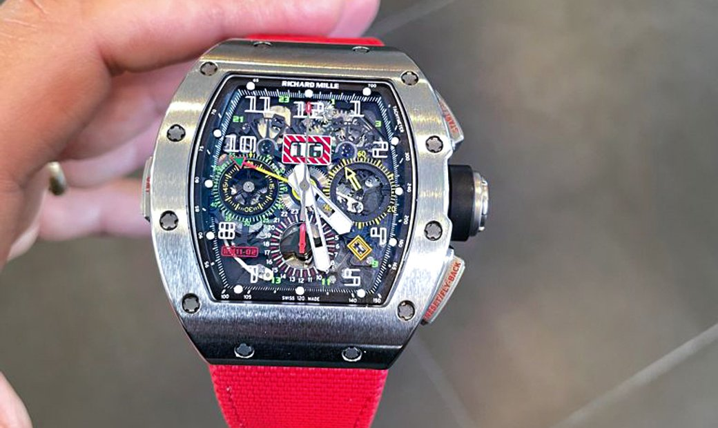 Richard Mille [2018 MINT] RM 11-02 Titanium GMT Flyback Chronograph Dual Time Zone
