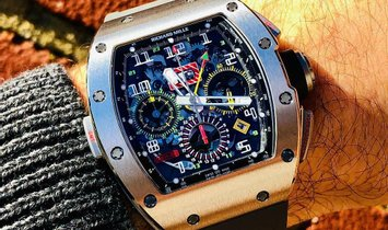 Richard Mille [NEW] RM 11-02 Titanium GMT Flyback Chronograph Dual Time Zone