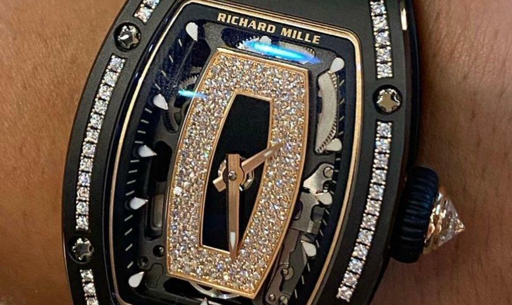 Richard Mille [NEW] RM 07-01 Black Ceramic Gem Stone Diamond Black Lip Automatic Ladies