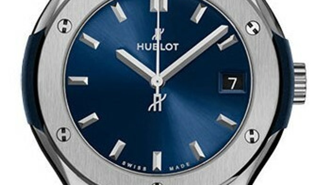 HUBLOT CLASSIC FUSION QUARTZ 33MM TITANIUM BLUE 581.NX.7170.LR