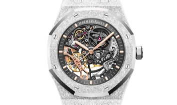 Audemars Piguet Royal Oak Frosted Gold Openworked Index Dial Watch 15407BC.GG.1224BC.01
