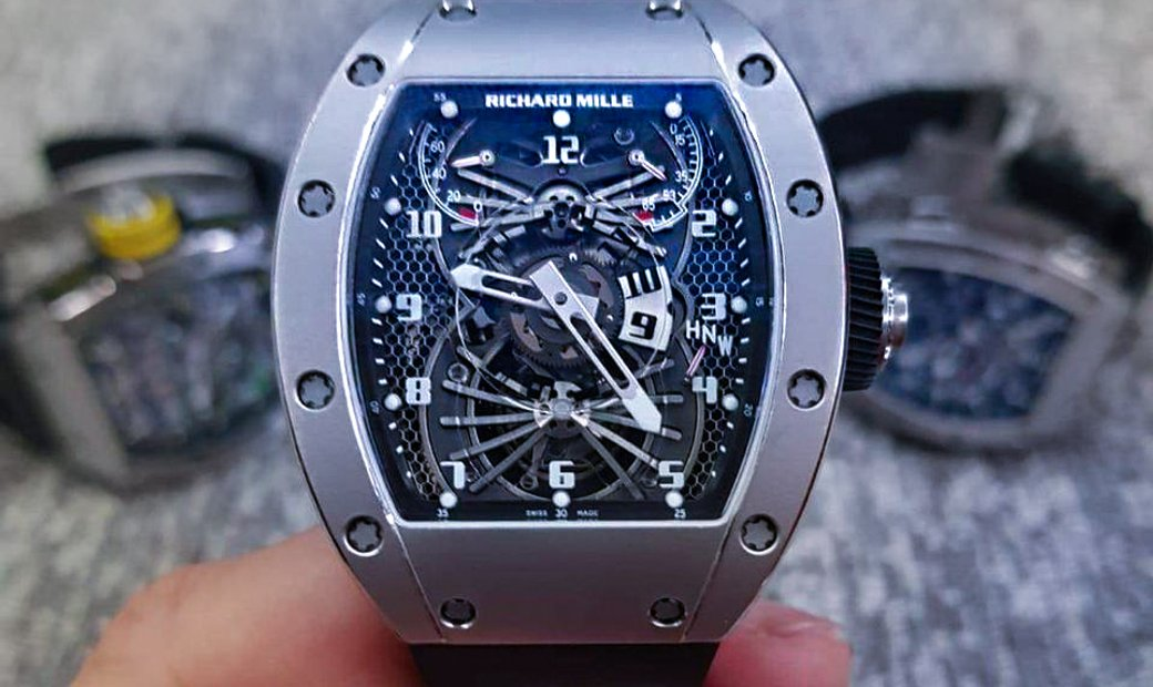 Richard Mille RM 022 Tourbillon White Gold Aerodyne Dual Time Zone Watch
