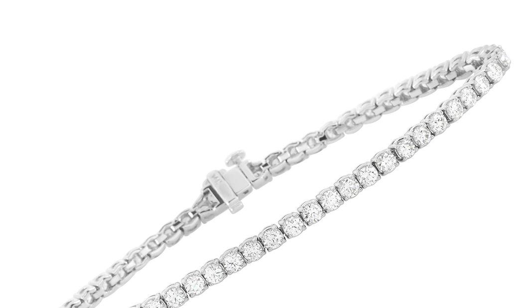 LB Exclusive LB Exclusive 14K White Gold 5.00 ct Diamond Tennis Bracelet
