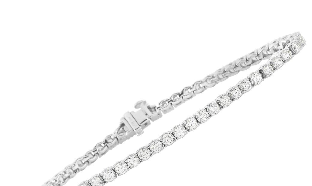 LB Exclusive LB Exclusive 18K White Gold 5.01 ct Diamond Tennis Bracelet