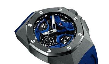 Audemars Piguet Royal Oak Concept Titanium GMT Flying Blue Dial Watch 26589IO.OO.D030CA.01