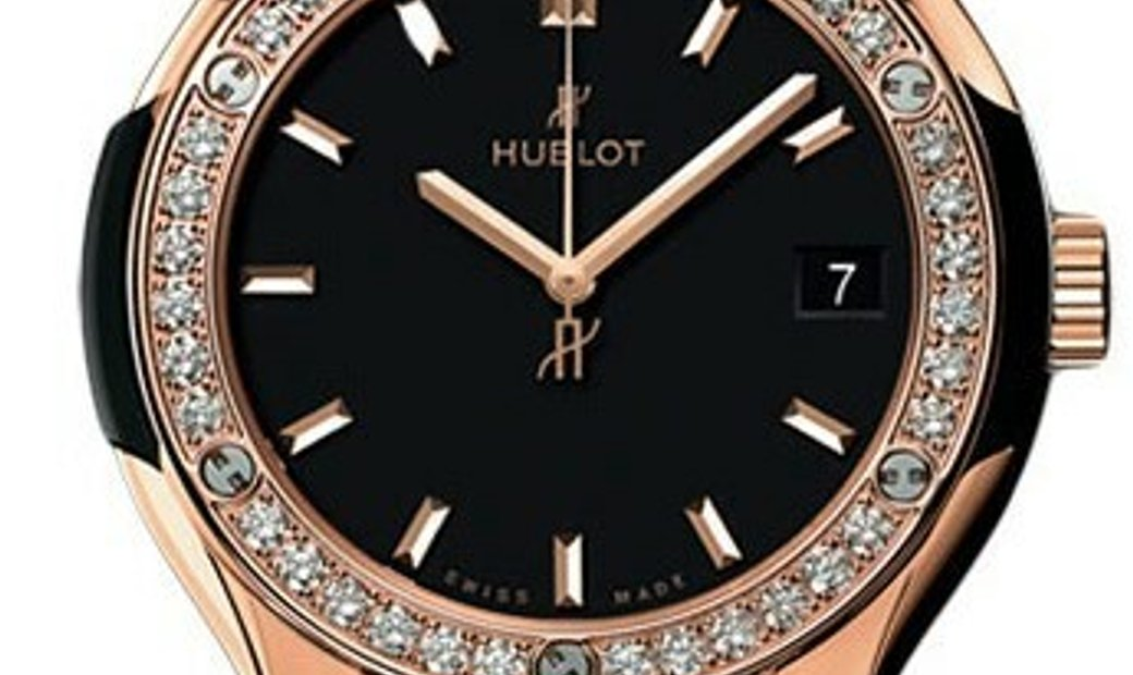 HUBLOT CLASSIC FUSION KING GOLD DIAMONDS MATTE BLACK 33MM 582.OX.1180.RX.1204
