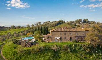 Фермерское ранчо в Помаранче, Тоскана, Италия 1