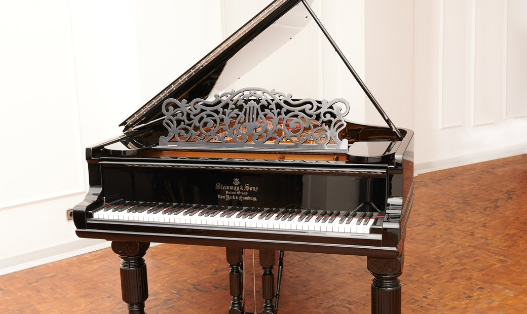 Highly individual antique Steinway & Sons grand piano