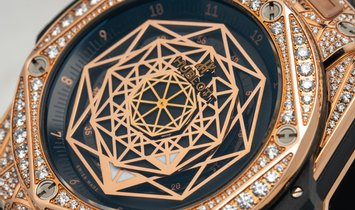 415.OX.1118.VR.1704.MXM17 Hublot Big Bang Sang Bleu King Gold Pave