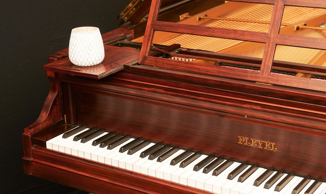 Antique Pleyel grand piano with special features