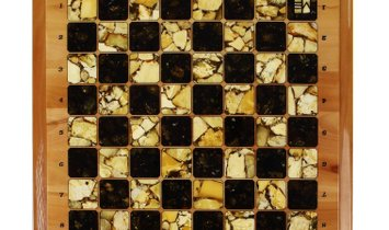 Luxury amber chessboard
