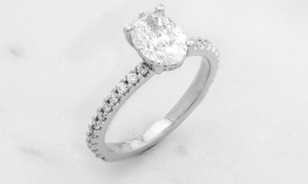 1.21ct Diamond Ring in 18K White Gold