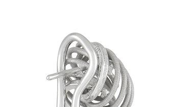 Buccellati Buccellati 18K White Gold Swirl Button Earrings