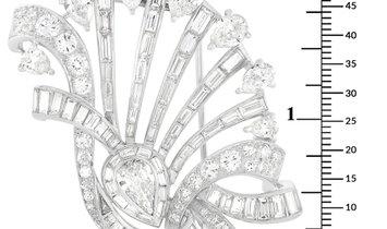 LB Exclusive LB Exclusive Platinum 17.17 ct Diamond Brooch