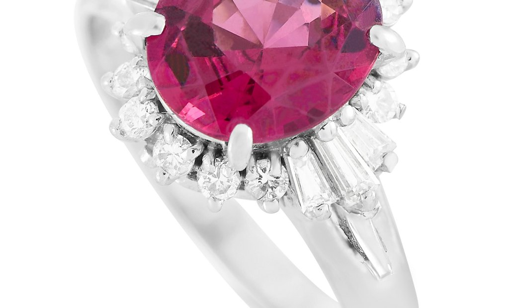 LB Exclusive LB Exclusive Platinum 0.36 ct Diamond and Tourmaline Ring